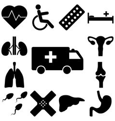 Medical signs set Flat style vector image vector image