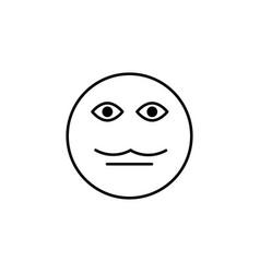 Moustache emoticon vector