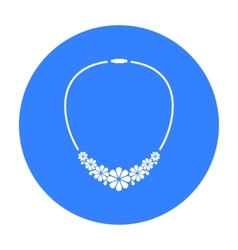 Necklace icon of for web and vector image vector image