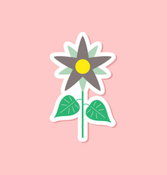 Paper sticker on stylish background flower vector
