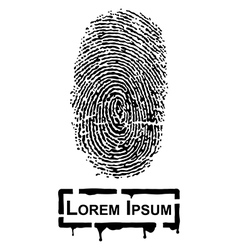 Realistic Fingerprint vector image