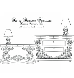 Royal Baroque Classic furniture table vector image