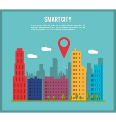 Smart city and gps icon technology and internet vector