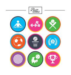 Sport games fitness icon football basketball vector