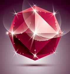 Stylish shiny ruby effect eps10 celebrati vector