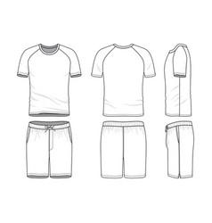 templates of blank t-shirt and shorts vector image
