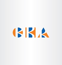 triangle circle and square letter k logo set vector image