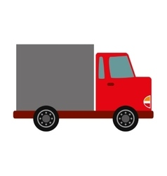 Truck shipping delivery vector