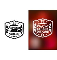 Vintage barber shop welcome banner design vector image vector image