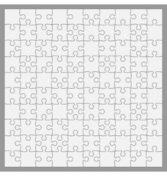 White puzzles pieces square gigsaw - 100 vector