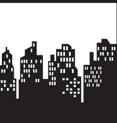 windows on city skylines in black and white vector image