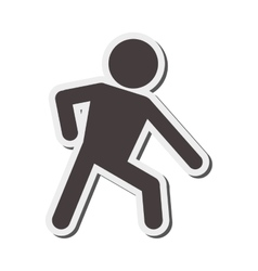 Man pictogram leaning icon vector