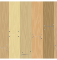 Seamless texture of planks vector image