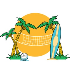 Beach volleyball vector