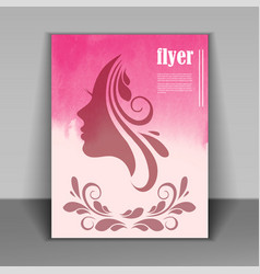 Silhouette of a women on pink background for happy vector