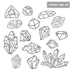 gem set vector image