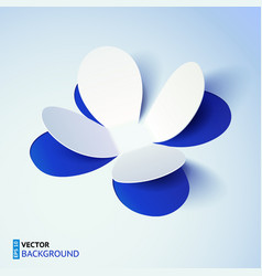 Blue cutout paper plower vector image