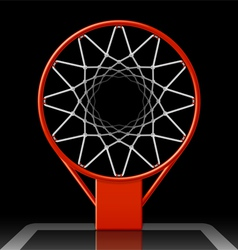 Basketball hoop on black vector