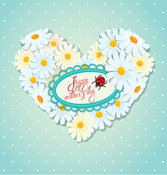 Mother day card 1 380 vector