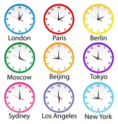 World clocks vector