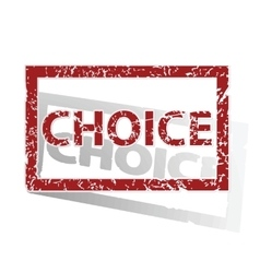 Choice outlined stamp vector