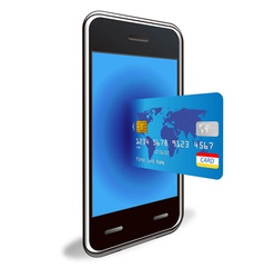 smart phone and credit card vector image
