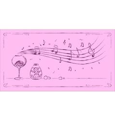 Perfumery melody drawing vector