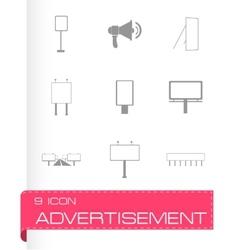 advertisement icon set vector image vector image