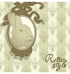 background with rabbit vector image