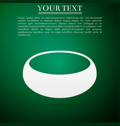 Bowl flat icon on green background vector