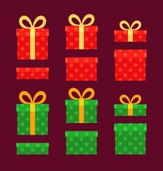 Christmas boxes vector