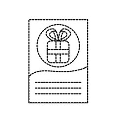Christmas letter gift celebration blank space vector