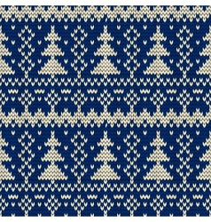 Christmas seamless knitted background vector image