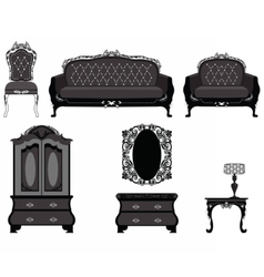 Classic royal ornamented furniture vector image vector image
