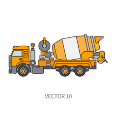 Color icon construction machinery truck vector