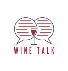 design template of wine talk concept vector image