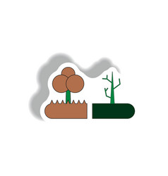 Drought and trees drought effects on plants vector