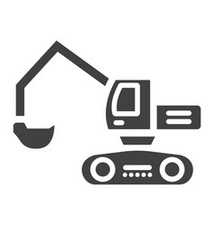 excavator glyph icon transport and vehicle vector image