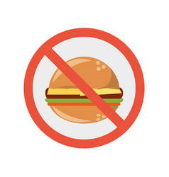 fast food prohibited vector image