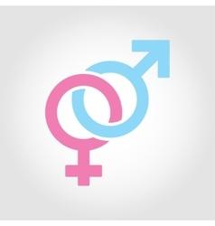 flat line sex symbol icon set vector image
