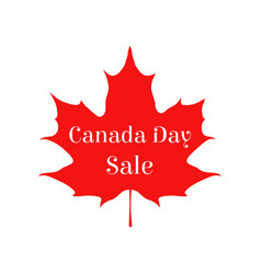happy canada day sale card vector image