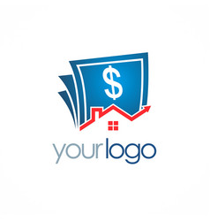 House sold money logo vector