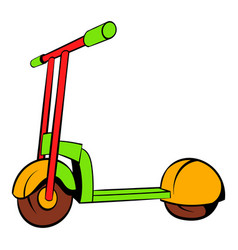 Kick scooter icon icon cartoon vector