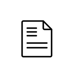 line document icon on white background vector image vector image