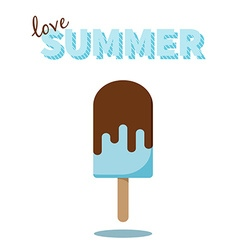Love Summer popsicle design for cards prints vector image vector image