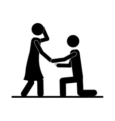 Man and woman couple icon image vector