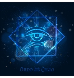 Mystical mason sign with eye vector image