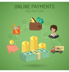 Online Payments Concept vector image vector image