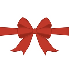Red bow and ribbon vector image
