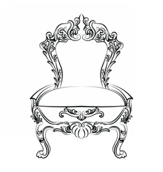 Royal Baroque Classic chair furniture vector image